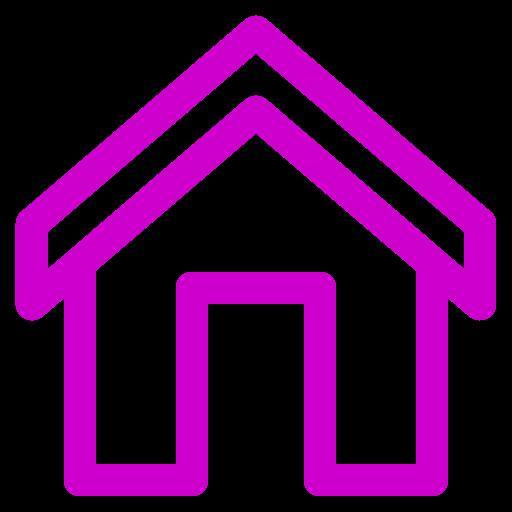Icône de la maison rose