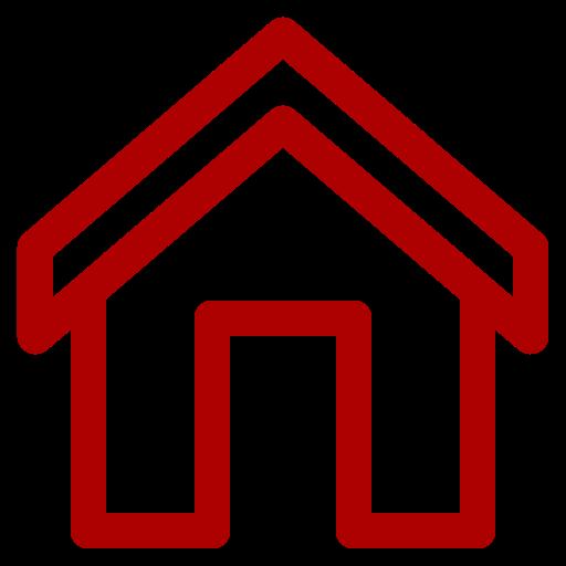 Icône de la maison rouge