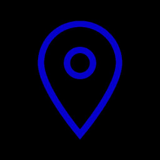 Icône de localisation bleue