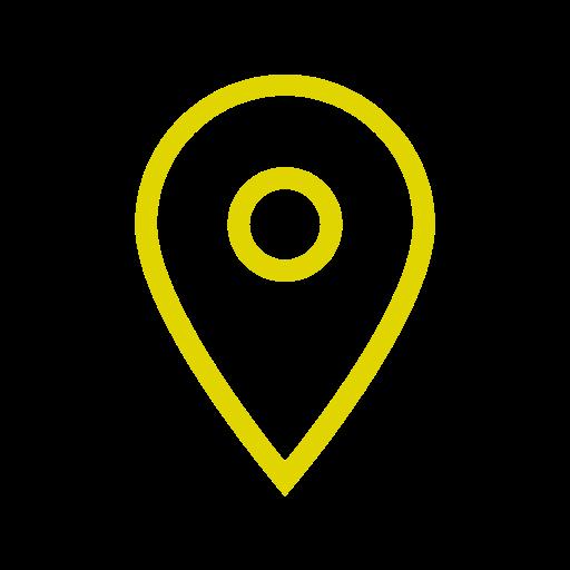 Icône de localisation jaune