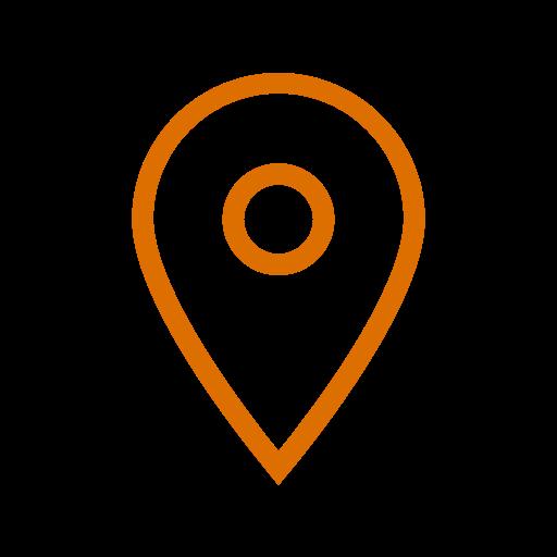 Icône de localisation orange