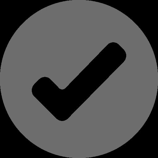 Icône de tique ronde grise