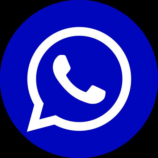 Icône du logo bleu WhatsApp
