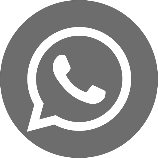 Icône du logo gris WhatsApp