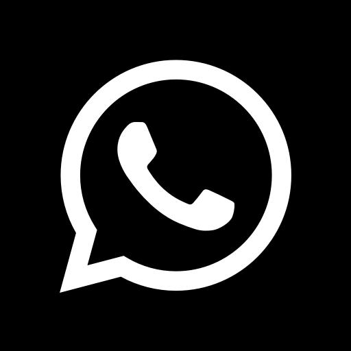 Icône du logo WhatsApp noir
