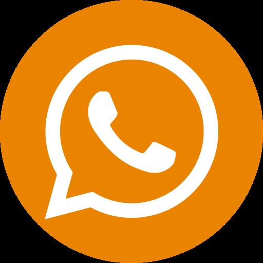 Icône du logo orange WhatsApp