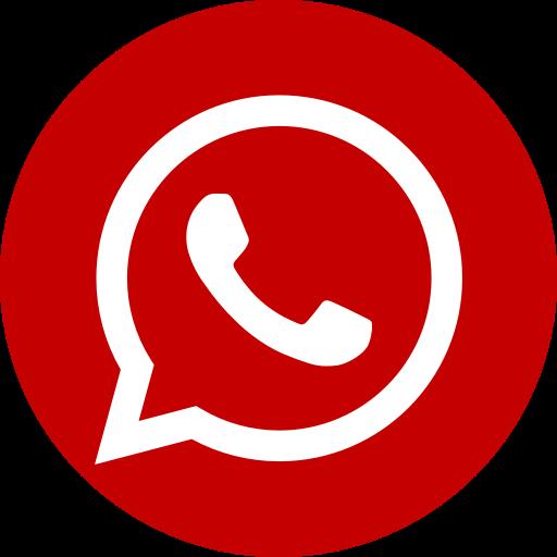 Icône du logo WhatsApp rouge