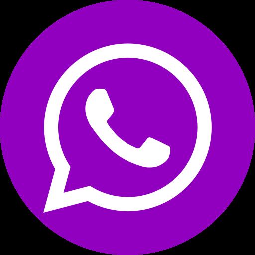 Icône du logo violet WhatsApp