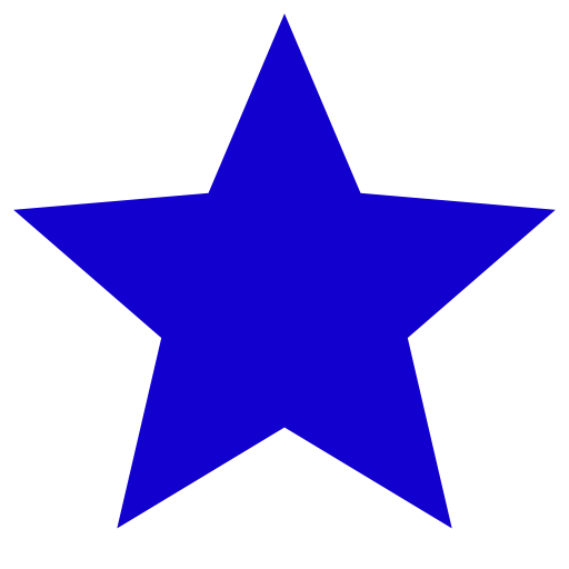 Icône étoile bleue