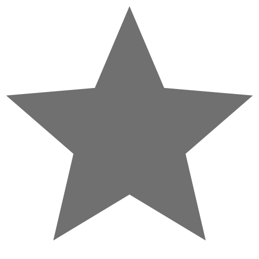Icône étoile grise