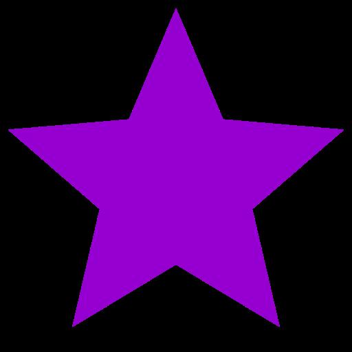 Icône étoile pourpre