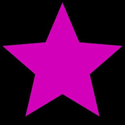 Icône étoile rose