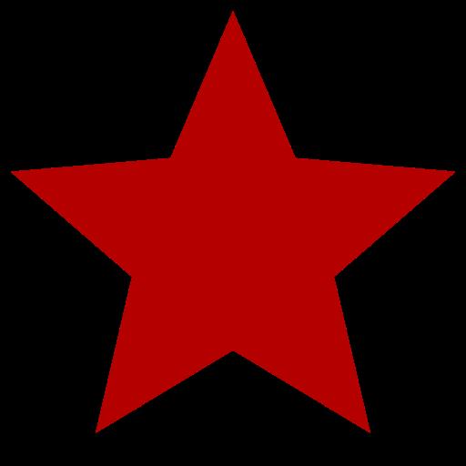 Icône étoile rouge