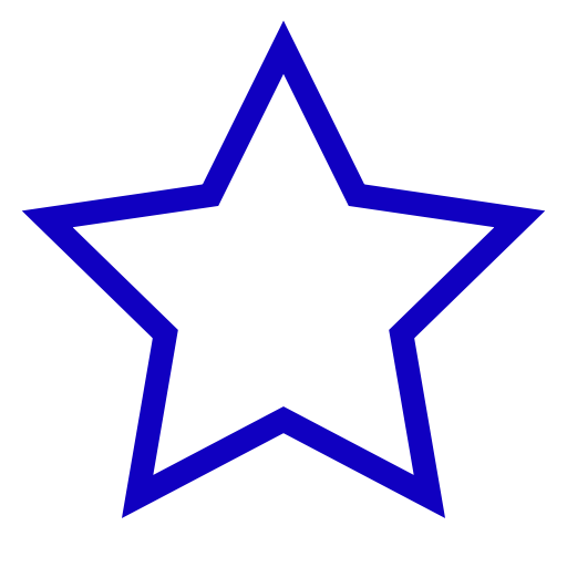 Icône étoile vide bleu
