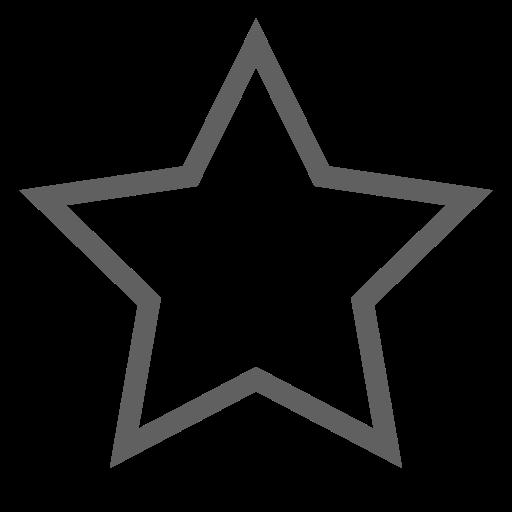 Icône étoile grise vide
