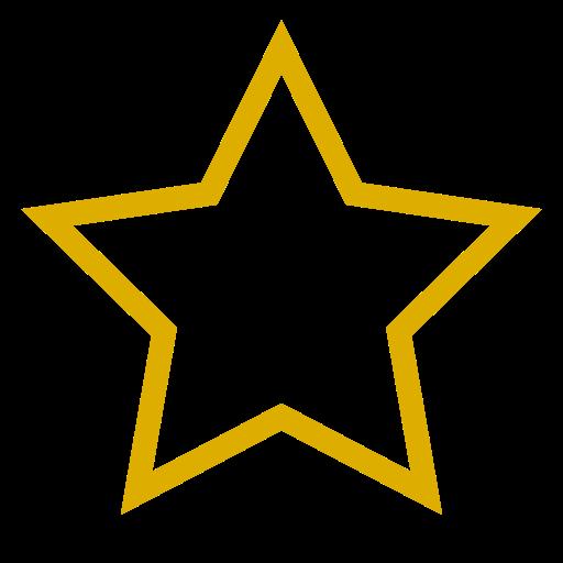 Icône étoile vide jaune