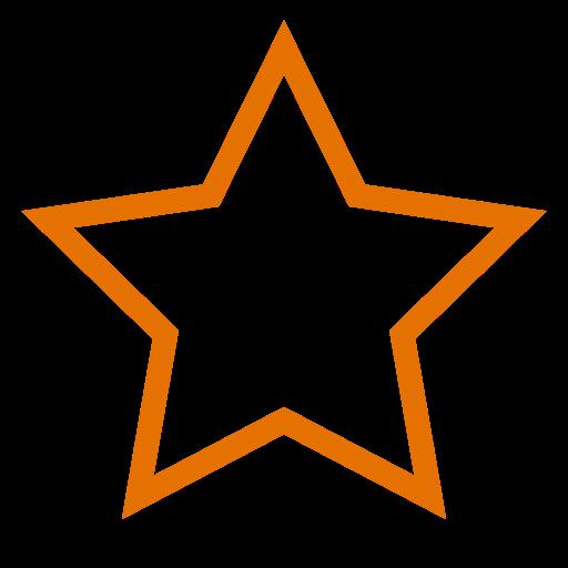 Icône étoile orange vide