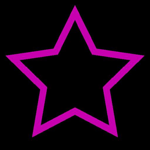 Icône étoile rose vide