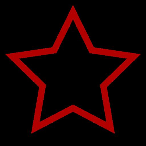 Icône étoile vide rouge