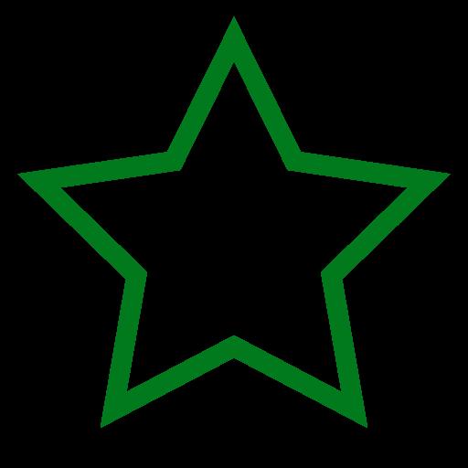 Icône étoile vide verte