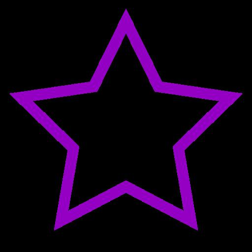 Icône étoile vide violet