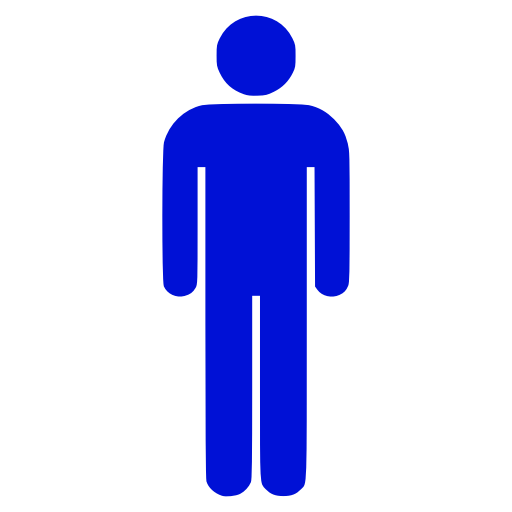 Icône PNG bleu symbole masculin