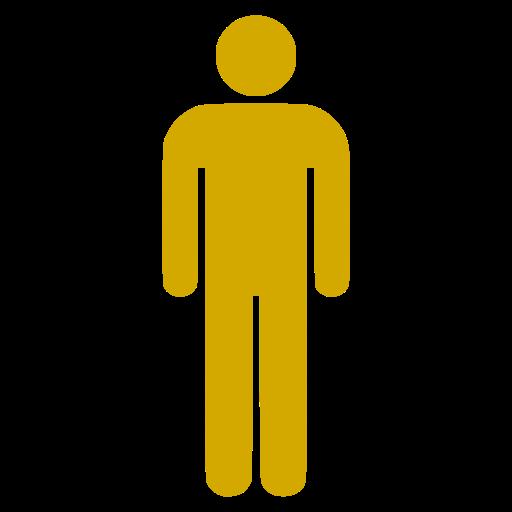 Icône PNG jaune symbole masculin