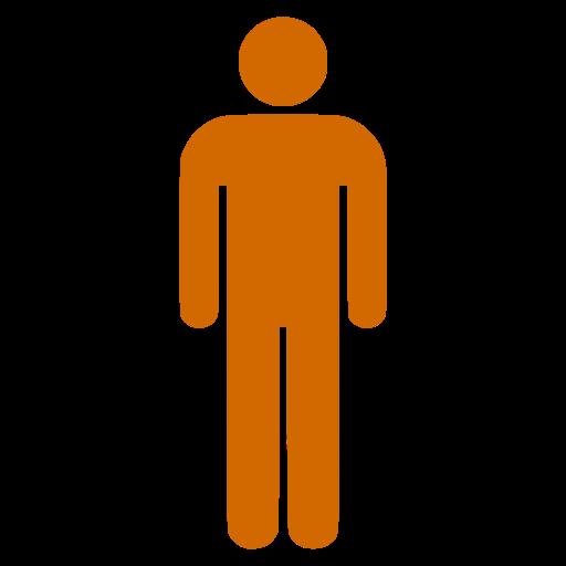 Icône de symbole masculin PNG orange