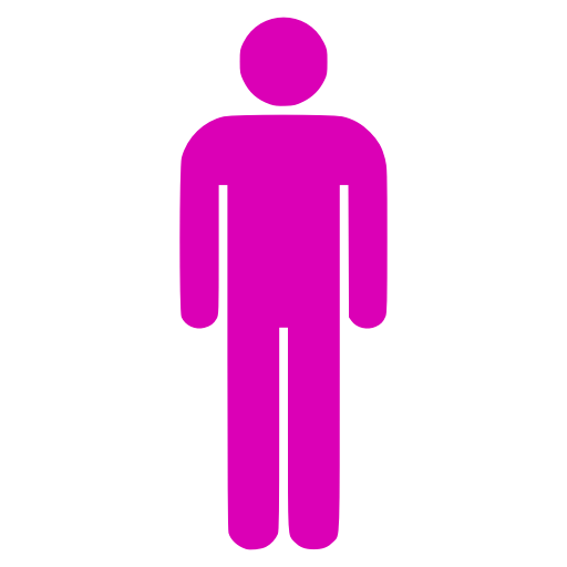 Icône PNG rose symbole masculin