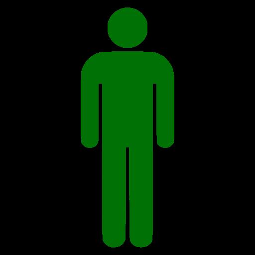 Symbole masculin PNG icône verte