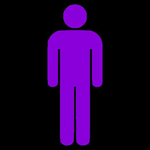 Symbole masculin icône PNG violet