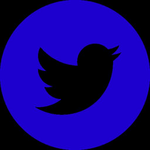 Icône ronde Twitter bleue