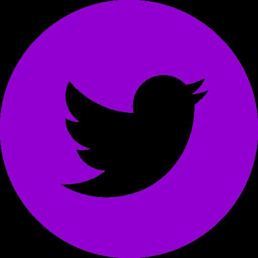 Icône ronde Twitter violet