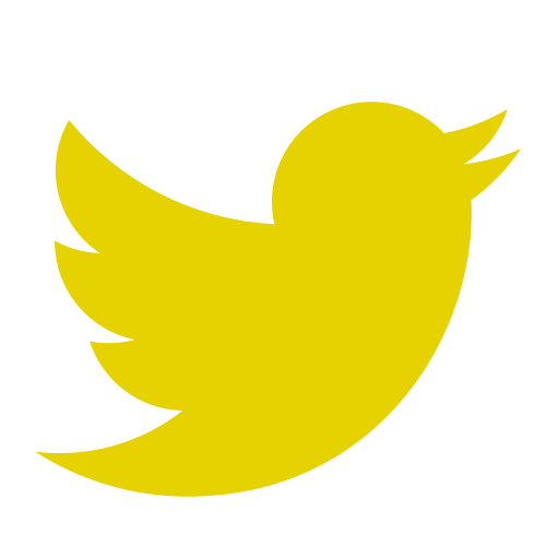 Icône Twitter jaune