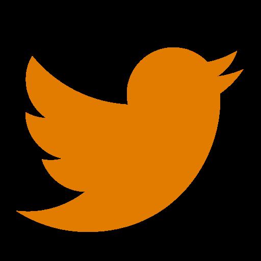 Icône Twitter orange