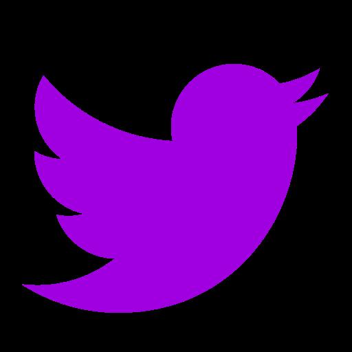 Icône Twitter violet