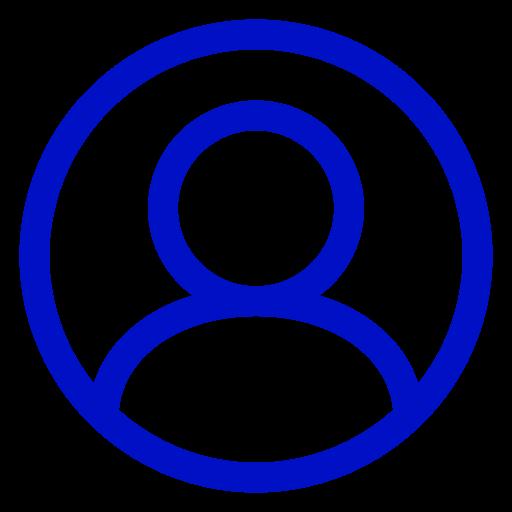 Icône d'utilisateur bleu