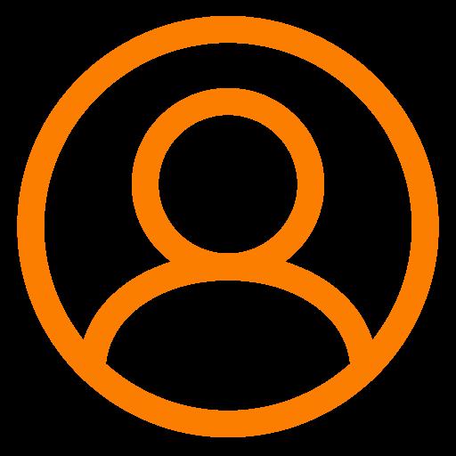Icône d'utilisateur orange