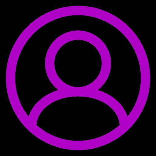 Icône d'utilisateur rose