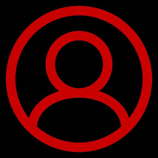 Icône d'utilisateur rouge