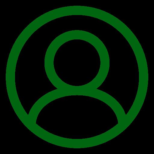 Icône d'utilisateur vert