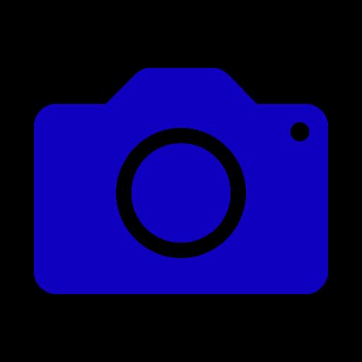 Icône de caméra bleue