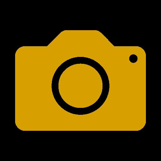 Icône de caméra jaune