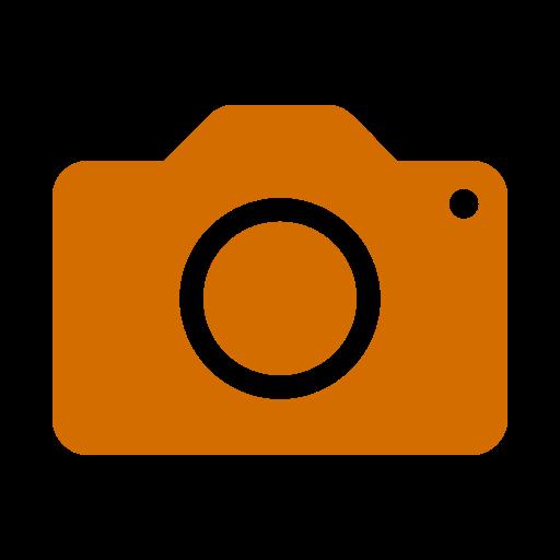 Icône de caméra orange