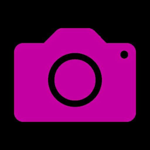 Icône de caméra rose