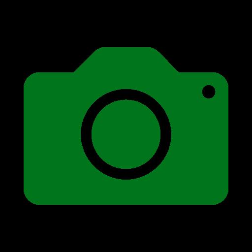 Icône de caméra verte