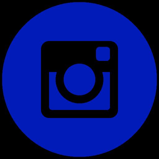 Icône Instagram bleu