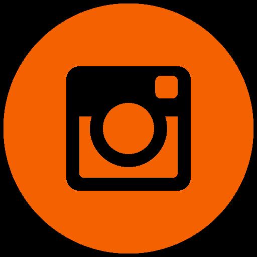 Icône Instagram orange