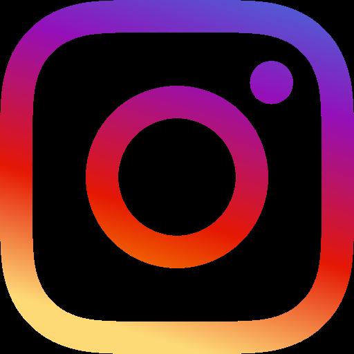 Icône Instagram logo avec les couleurs d'origine