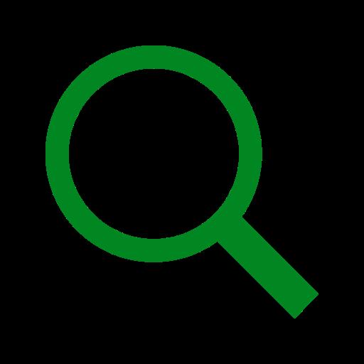 Loupe et recherche icône couleur verte